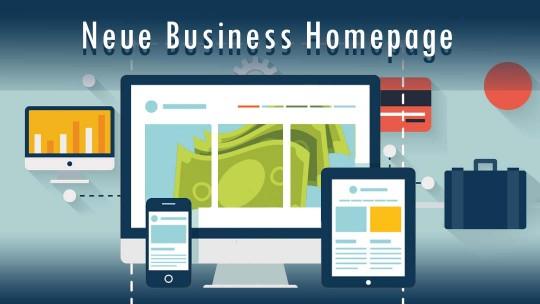 Dienstleistung Neue Business Homepage Erstellen